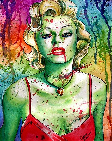 Marilyn Monroe Zombie Doll by MissCarissaRose