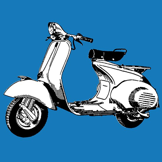 Scooter motorcycle classic by alvaroc