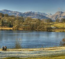 Loughrigg Tarn..A Bench With A View by Jamie  Green