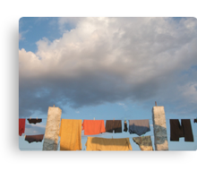 Pilgrim laundry Canvas Print