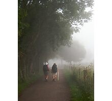 Pilgrims in the mist Photographic Print