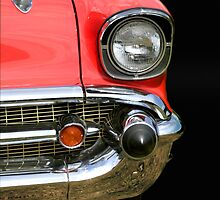Red Chevy Car by snehit