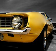 Yellow muscle car by snehit