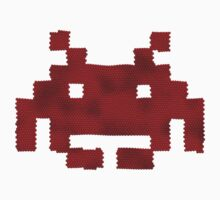 Scaled Invader in red by TexTs