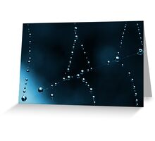 Web In Blue Greeting Card