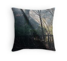 Morning at the Station take two Throw Pillow