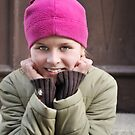 Pink hat girl by Zuzana D Photography