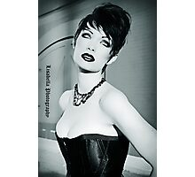 Lips.Skin. Eyes. Hair. Necklace. Corset.  Photographic Print