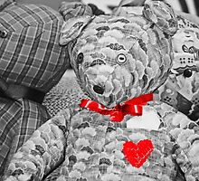 Teddy Bear Heart Equals Love by Doty