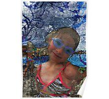 Batik Ocean Pose Midwest Poster