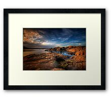 Willow Lake Rock Around Framed Print