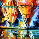 Balloon Parade - original oil painting on canvas by Leonid Afremov by Leonid  Afremov