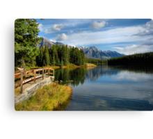 Johnson Lake - Banff National Park Canvas Print