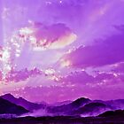 purple misty sunset by Chaim  Schvarcz