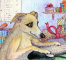 This year, this dog was going to do all her shopping online by SusanAlisonArt