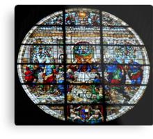 Duomo Front Window-Siena, Italy Metal Print