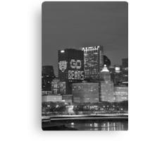 Chicago Skyline Night View Canvas Print