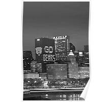 Chicago Skyline Night View Poster