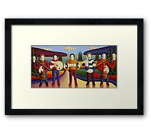 Five soft musicians Framed Print