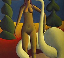 Adel with swan by Alan Kenny