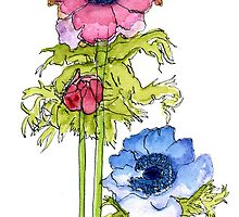 Anemones 2 by reddogcards