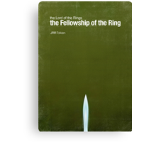 """""""Fellowship of the Ring""""- minimalist movie poster Canvas Print"""