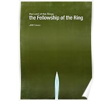 """Fellowship of the Ring""- minimalist movie poster Poster"