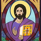 Icon of Christ Pantokrator by David Raber