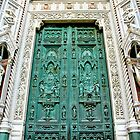 Green Door Piazza Del Duommo Florence Italy  by Danielle Girouard