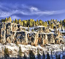 Spearfish Canyon in Winter by Kendra Perry-Koski
