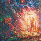 Telephone-Island  / 1988 / oil, pencil on paper by Ivan KRUTOYAROV