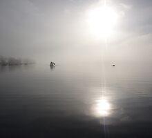 the fog bank (lake windermere) by karl emmerson