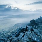 Mist over Sharpitor, Dartmoor, Devon. by Justin Foulkes