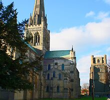 Chichester Cathedral and Bell Tower by Dave Godden