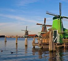Windmills in Zaanse Schans by scubacro