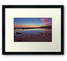 Rippled Dawn Framed Print