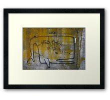 lichen whale Framed Print