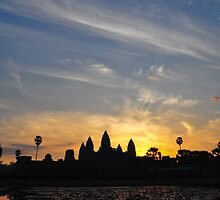Sunrise over Angkor Wat by Julian Fulton-Boote