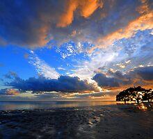 Nudgee Beach at sunrise. Brisbane, Queensland, Australia. by Ralph de Zilva