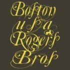 usa boston, ma tshirt by rogers bros by usaboston
