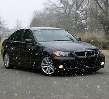 E90 Sport BMW Snowy Day by Daniel  Oyvetsky