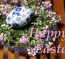 happy easter egg and flowers by dedmanshootn