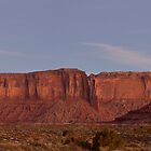 West Mitten and Sentinel Mesa at Nightfall by Mitchell Tillison