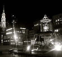 Boston at night  by Rae Breaux