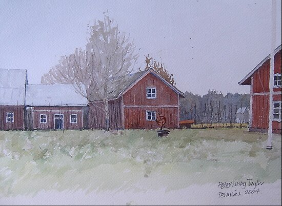 Gunners barn after the thaw by Peter Lusby Taylor