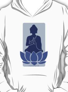 Meditating Buddha - blue T-Shirt