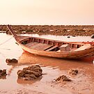 Long-tail Fishing Boat on Ko Lanta by Kerry Dunstone