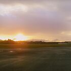 Sunset Over Airport by hunterrkn