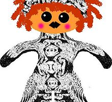 "My Little ""Voodoo Child"" Rag Doll by Deborah Lazarus"