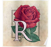 R is for Rose Poster